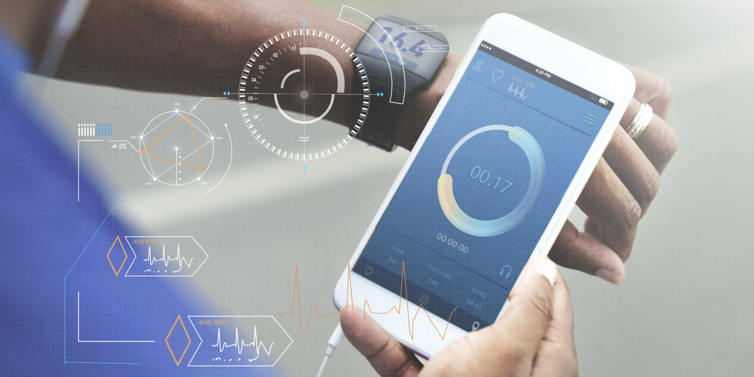 Fitness tech healthcare sensors and tracking